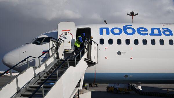 Un avión de la aerolínea rusa de low cost Pobeda - Sputnik Mundo