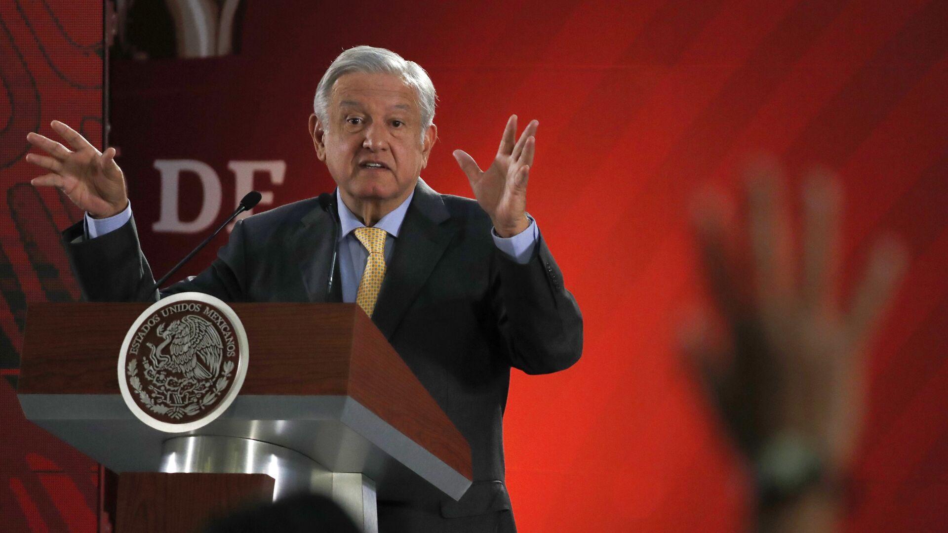 Andrés Manuel López Obrador, presidente de México - Sputnik Mundo, 1920, 12.07.2021
