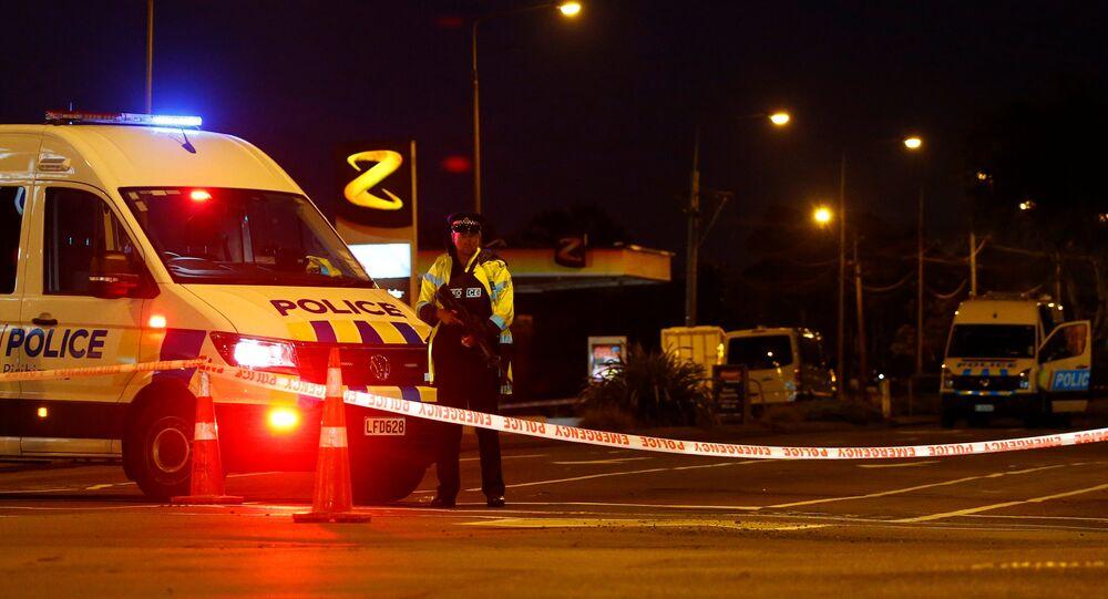 Policía de Nueva Zelanda en Christchurch