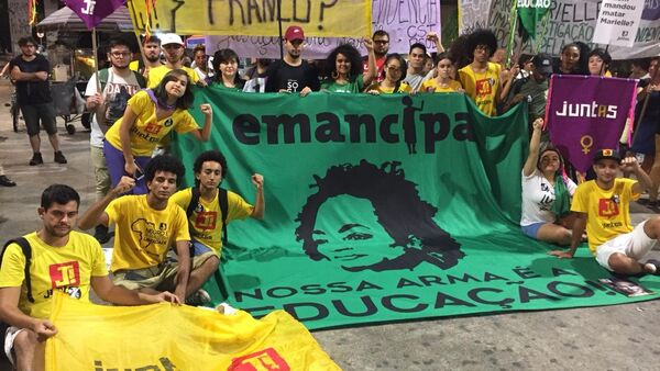Un acto en memoria de Marielle Franco en Brasil - Sputnik Mundo