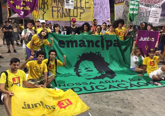 Un acto en memoria de Marielle Franco en Brasil