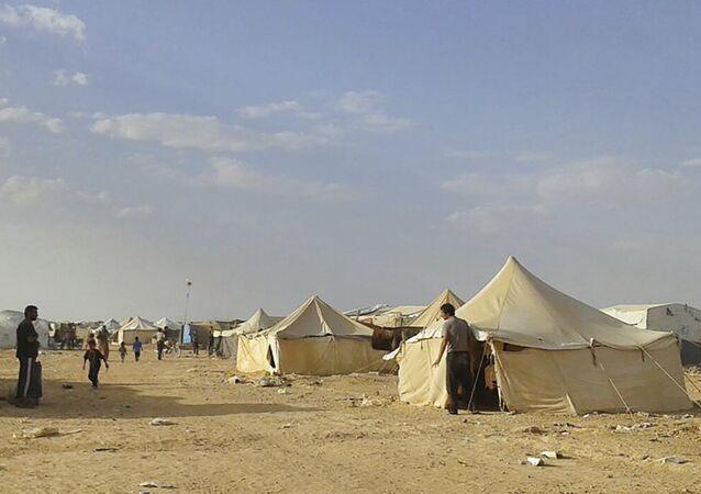 El campo de refugiados Rukban, Siria