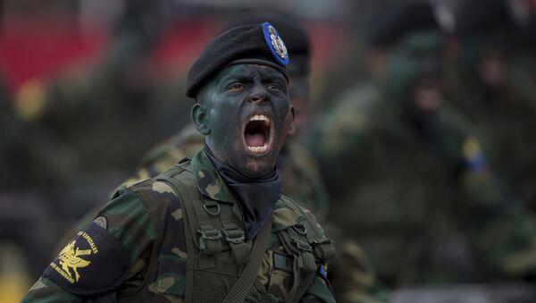 Un soldado venezolano - Sputnik Mundo