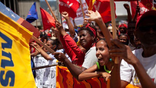 Los seguidores del presidente de Venezuela, Nicolás Maduro - Sputnik Mundo