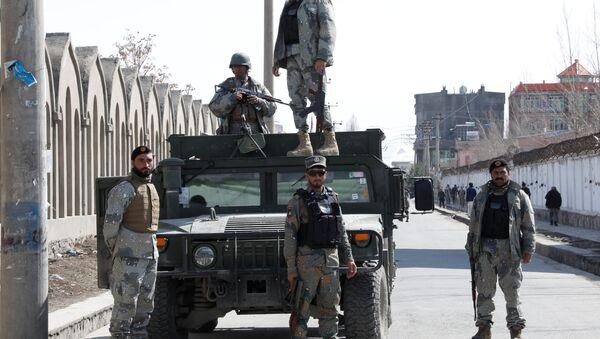 Unos militares de Afganistán (archivo) - Sputnik Mundo