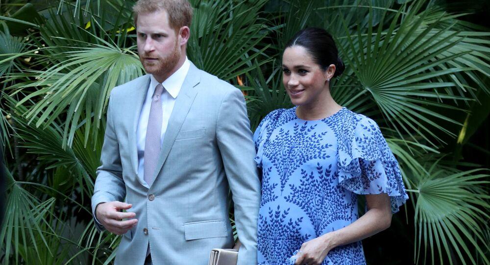 Meghan Markle, la duquesa de Sussex, y el príncipe Harry