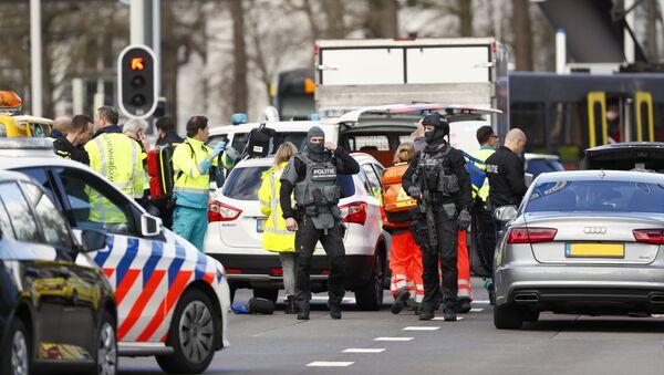 Lugar del tiroteo en la ciudad de Utrecht, Países Bajos - Sputnik Mundo