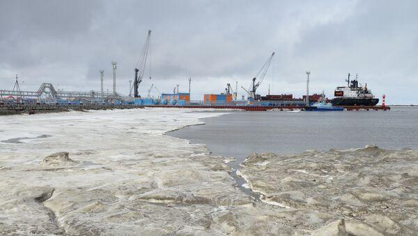 El puerto de Sabetta, en el Ártico, Rusia - Sputnik Mundo