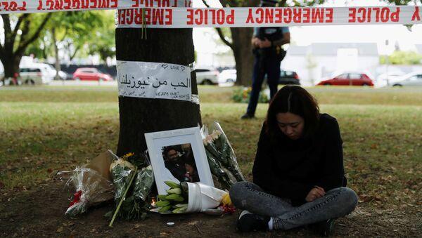 Lugar del homenaje a las víctimas del tiroteo en Chistchurch, Nueva Zelanda - Sputnik Mundo