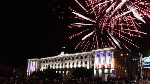 Los fuegos artificialles en Crimea - Sputnik Mundo