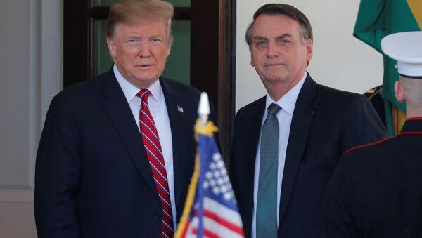 Presidente de EEUU, Donald Trump, y presidente de Brasil, Jair Bolsonaro - Sputnik Mundo