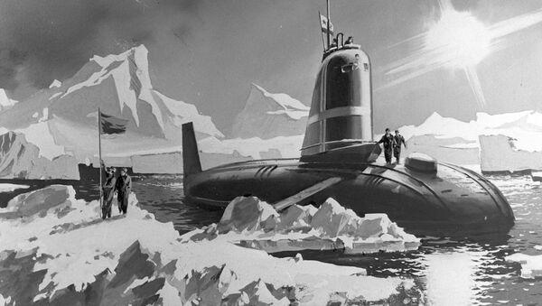 Un antiguo dibujo del sumergible K-3 - Sputnik Mundo