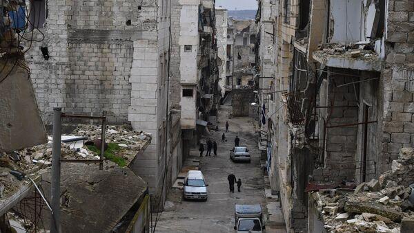 Una de las calles de Alepo - Sputnik Mundo