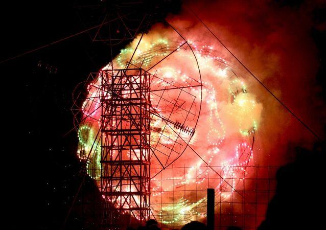 Los fuegos artificiales de Tultepec, México