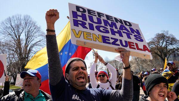 Los manifestantes exigen protección de derechos humanos en Venezuela - Sputnik Mundo