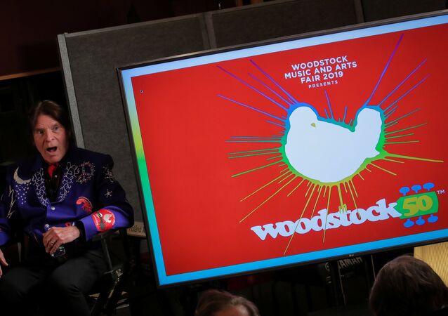 El cantante John Fogerty durante el evento de anuncio del cartel del festival Woodstock 50