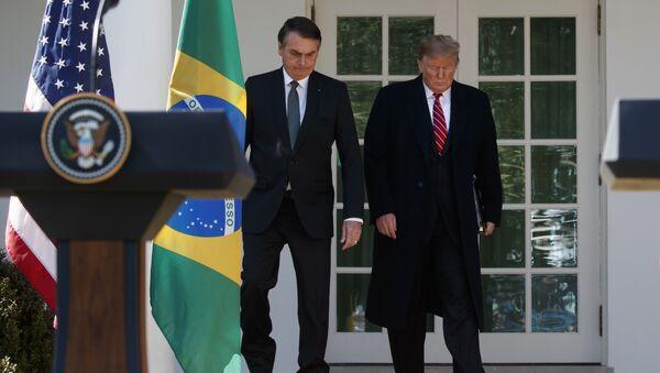 El presidente de Brasil, Jair Bolsonaro, y el presidente de EEUU, Donald Trump - Sputnik Mundo