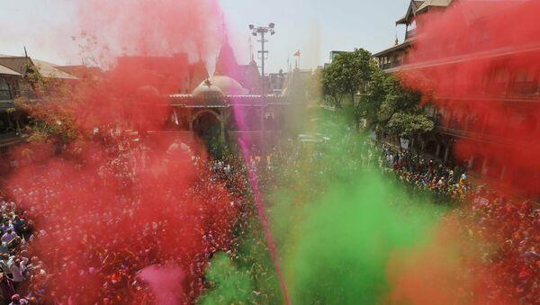 El Festival de Colores en la India - Sputnik Mundo