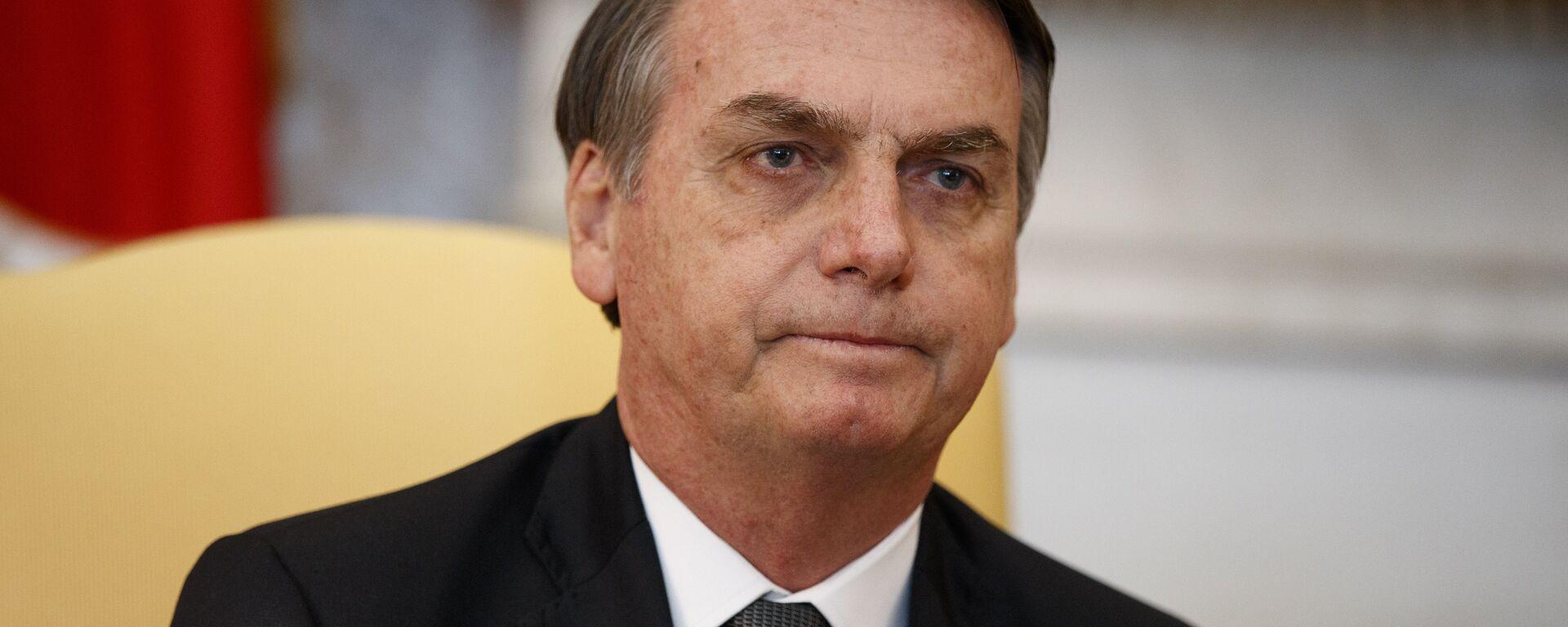 El presidente de Brasil, Jair Bolsonaro, en la oficina oval de la Casa Blanca en Washington - Sputnik Mundo, 1920, 03.08.2021