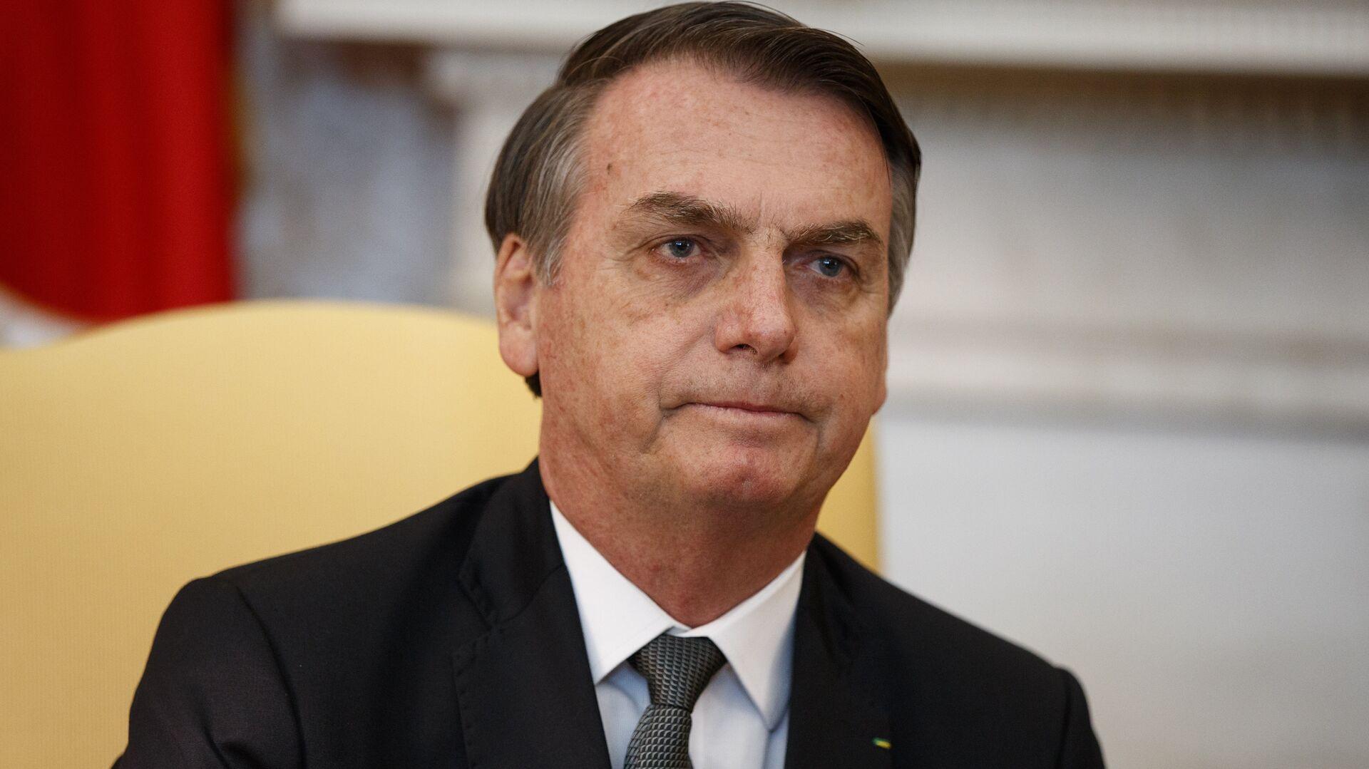 El presidente de Brasil, Jair Bolsonaro, en la oficina oval de la Casa Blanca en Washington - Sputnik Mundo, 1920, 10.06.2021