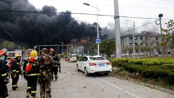 Explosión en una planta química en la provincia de Jiangsu - Sputnik Mundo