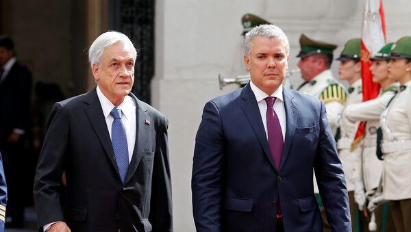 El presidente de Chile, Sebastián Piñera, y el presidente de Colombia, Iván Duque - Sputnik Mundo