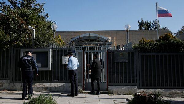 El Consulado ruso en Atenas, Grecia - Sputnik Mundo
