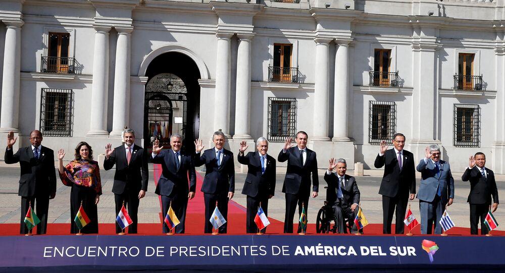 Presidentes se reunieron en Chile en la primera cumbre de Prosur.