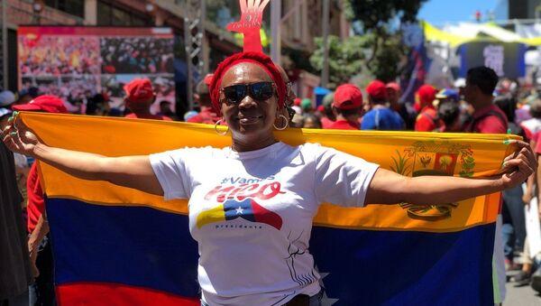 Una manifestación oficialista en Caracas - Sputnik Mundo