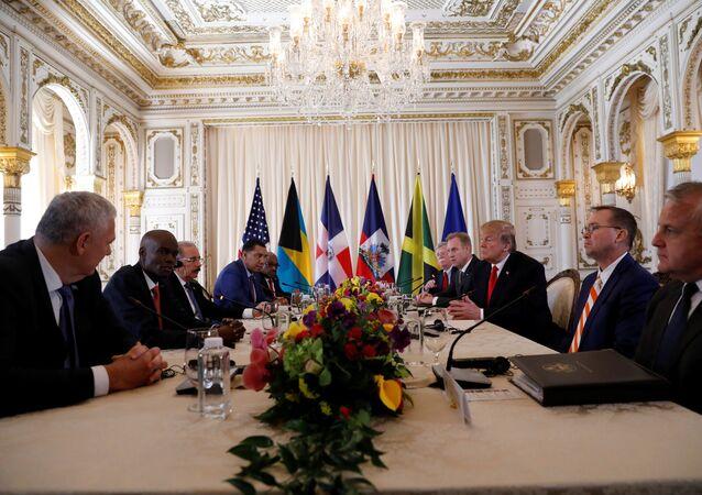 El encuentro de Trump con líderes de Bahamas, Haití, República Dominicana, Jamaica y Santa Lucía