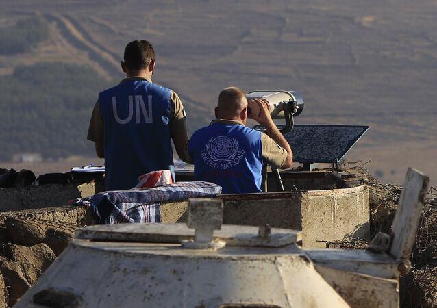 Inspectores de la ONU observan los Altos del Golán (archivo)