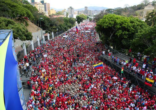 La manifestación chavista
