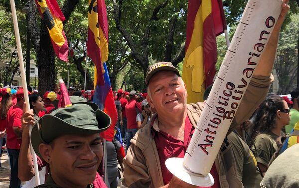 La marcha chavista - Sputnik Mundo