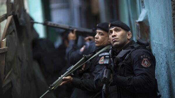 Policía de operaciones especiales de Brasil (archivo) - Sputnik Mundo