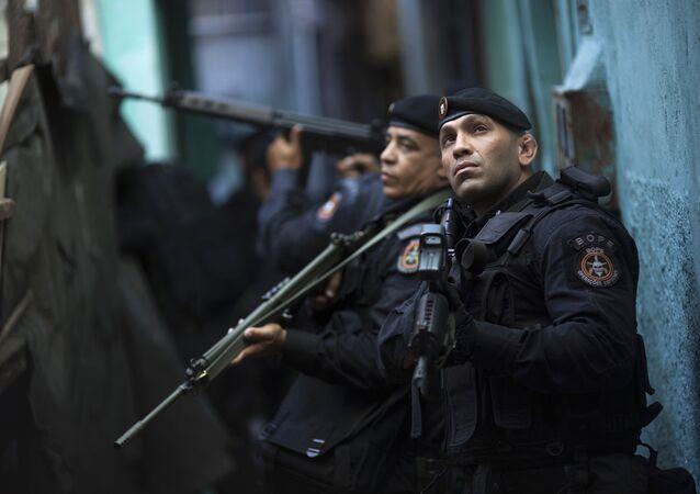Policía de operaciones especiales de Brasil (archivo)