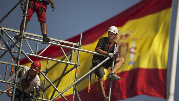 Trabajadores constructores en España (archivo) - Sputnik Mundo