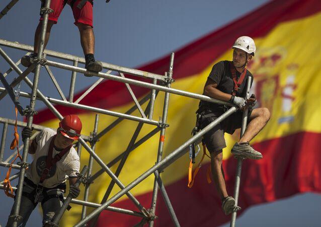 Trabajadores constructores en España (archivo)