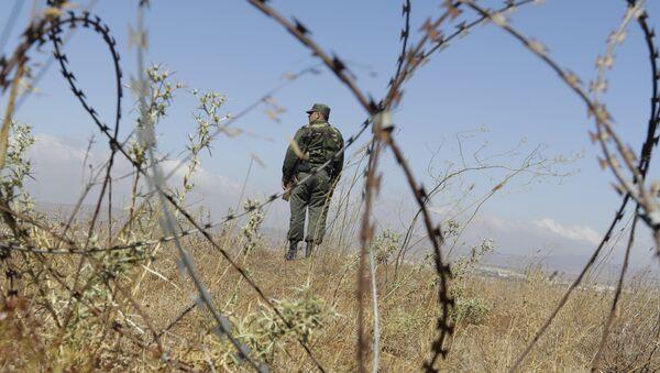 Un militar sirio en los Altos del Golán - Sputnik Mundo