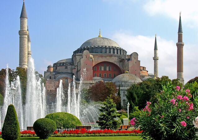 El templo de Santa Sofía en Estambul