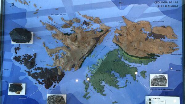En el museo de Malvinas no solo se aprende de historia. También es posible conocer los aspectos geológicos de las islas. - Sputnik Mundo