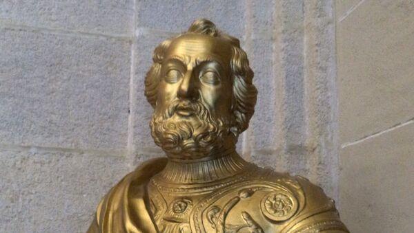 Busto de Hernán Cortés en el Archivo de Indias de Sevilla - Sputnik Mundo