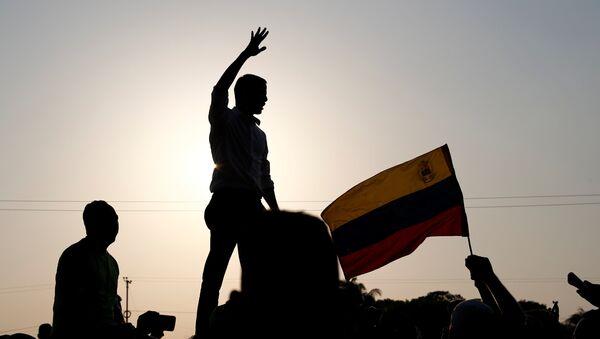Juan Guaidó, lider opositor venezolano, durante un discurso - Sputnik Mundo