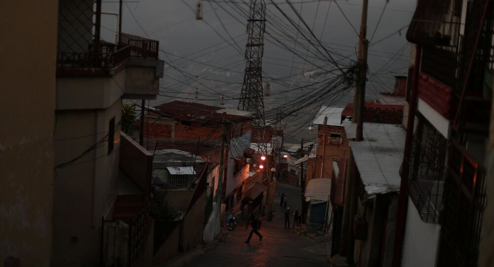 Apagón en Caracas, Venezuela