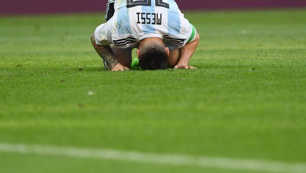 Lionel Messi en Rusia 2018 - Sputnik Mundo