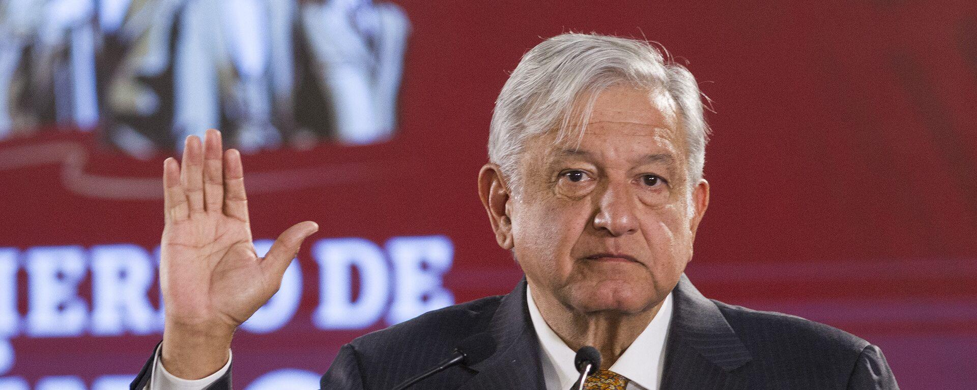 Andrés Manuel López Obrador, presidente de México  - Sputnik Mundo, 1920, 12.08.2021