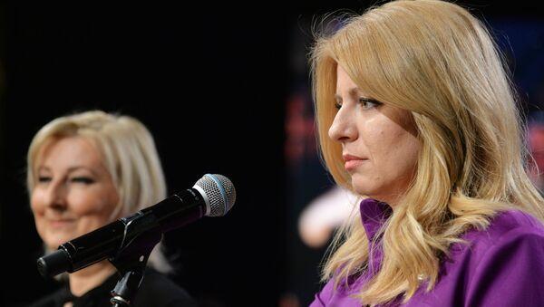 Zuzana Caputová en la segunda vuelta de las elecciones de Eslovaquia - Sputnik Mundo