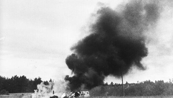 El derribo de un avión nazi Messerschmitt - Sputnik Mundo