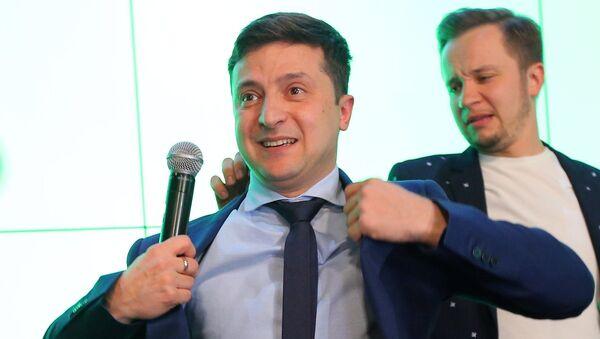 El comediante ucraniano, Volodímir Zelenski - Sputnik Mundo