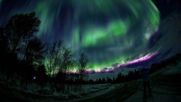 La aurora boreal de Murmansk - Sputnik Mundo