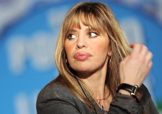Alessandra Mussolini, diputada del Parlamento europeo por el partido de centroderecha Forza Italia